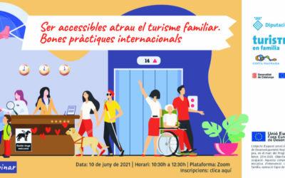 """""""Ser accessibles atrau el turisme familiar. Bones pràctiques internacionals"""", un nou webinar per a professionals del sector"""